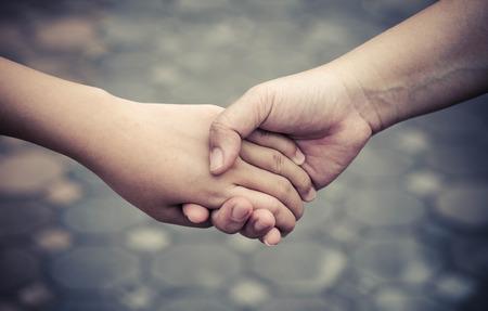 Hand Clasp Standard-Bild