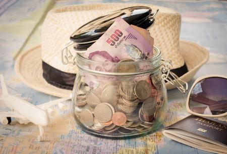 recoger: La planificación para recaudar dinero para el viaje.