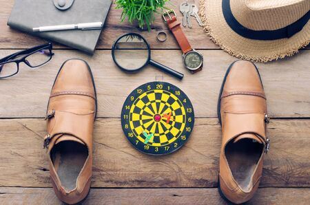 accesories: Instrumental Performance Concept goals for success. Stock Photo