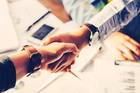 Handshake between joint venture business