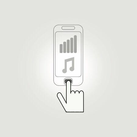 El uso de móviles para el entretenimiento. Vectores