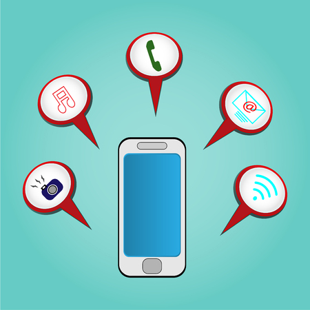 Vector Icon mobile and available to help in the work ?- technology concept