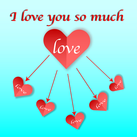 Heart for love you so much - vector concept