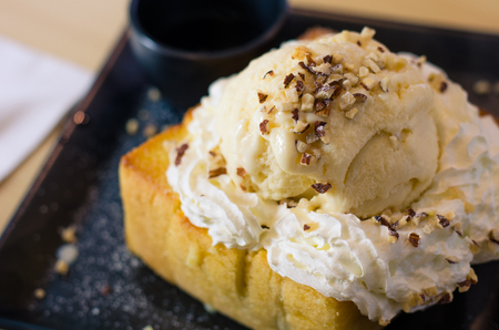 Postres populares de helado de miel tostada para todos