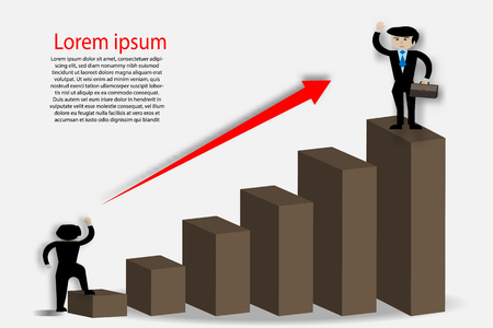 Graph showing the success of the businessman - Vector illustration