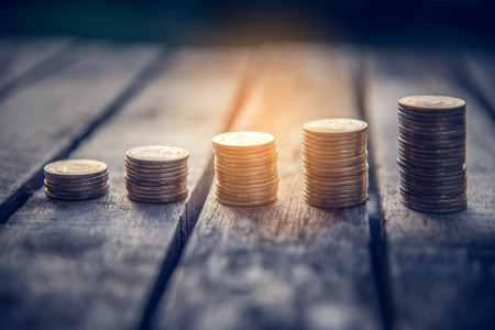 Gold Coin Stands for Business Growth - Concept for Starting a Small Business to Get Success