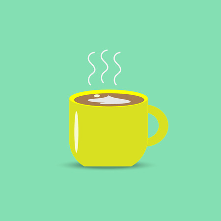 Morning coffee mug illustration vector