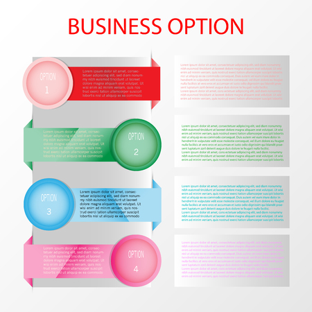Infographics Design Vector For Business Option Concept
