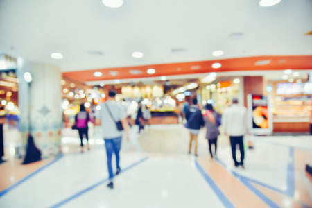 Blurred images, people walking shopping