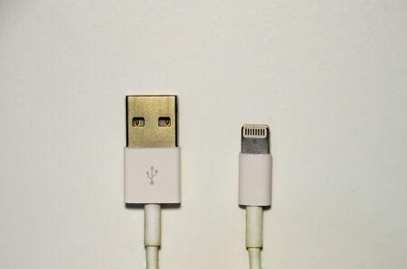USB plug and lightning  connector photo