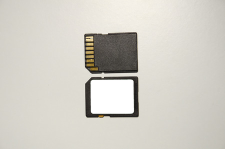 SD memory card front and back photo