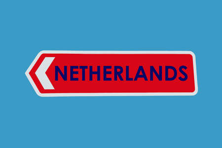 Netherlands Sign in its National Colours photo