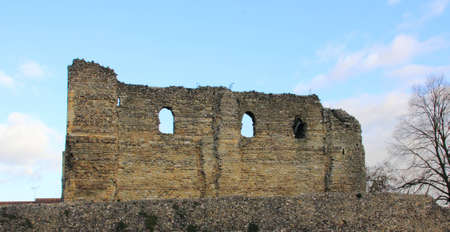 royality: Ruins of Canterbury Castle in Kent, England