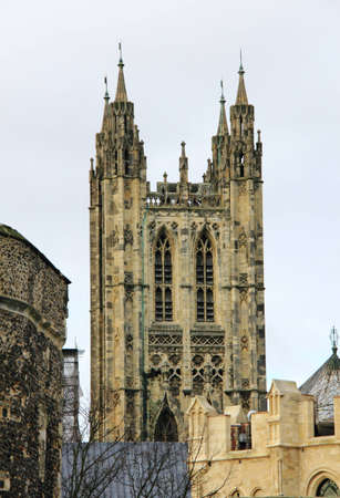 vicar: Tower at Canterbury Cathedral in Kent, England