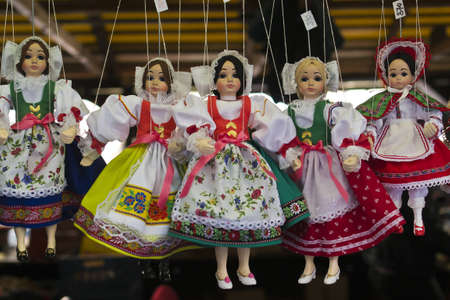 Wooden marionette made in Prague Stock Photo - 15975457