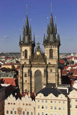 broach: Tyn church in Old Town Prague
