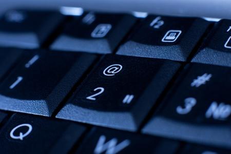 close up keys of keyboard. computer background  Standard-Bild