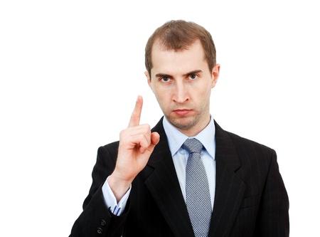poner atencion: empresario serio est� tratando de prestar atenci�n en algo