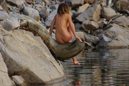 Nude on Driftwood 15