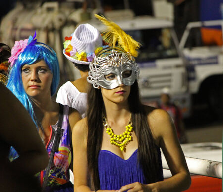 entertainers: Entertainers performing at a carnaval in Rio, Brazil Date 02 Mar 2014 No model release available Editorial use only