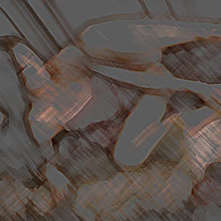 Digital impression of a nude woman model