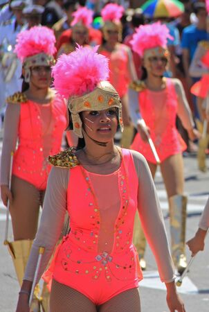 model release: Dancers performing at a parade during a carnaval in Veracruz, Mexico 07 Feb 2016 No model release Editorial use only