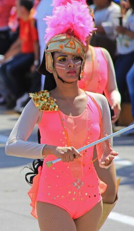 entertainers: A dancer performing at a parade during a carnaval in Veracruz, Mexico 07 Feb 2016 No model release Editorial use only Editorial