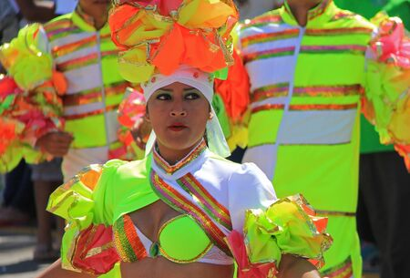 carnaval: Dancers performing at a parade during a carnaval in Veracruz, Mexico 07 Feb 2016 No model release Editorial use only