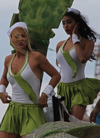 carnaval: Dancers performing at a parade during a carnaval in Veracruz, Mexico 09 Feb 2016 No model release Editorial use only