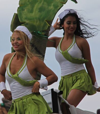 editorial: Dancers performing at a parade during a carnaval in Veracruz, Mexico 09 Feb 2016 No model release Editorial use only