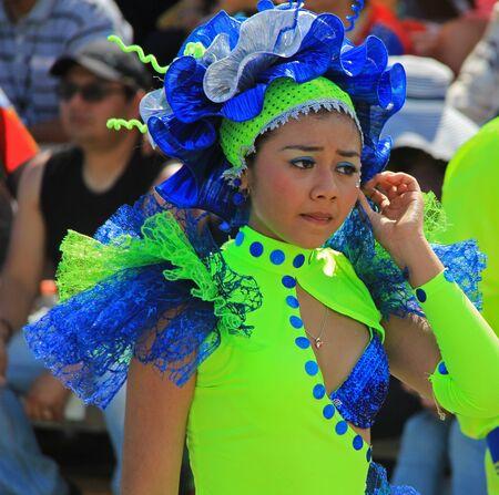 2016 年 2 月 7 日にベラクルス、メキシコでのパレードで実行するダンサー 報道画像