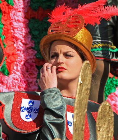 2017 年 2 月 26 日ポルトガル、Loule のカーニバル中にパレードでパフォーマー モデル リリース社説を使用しないだけ