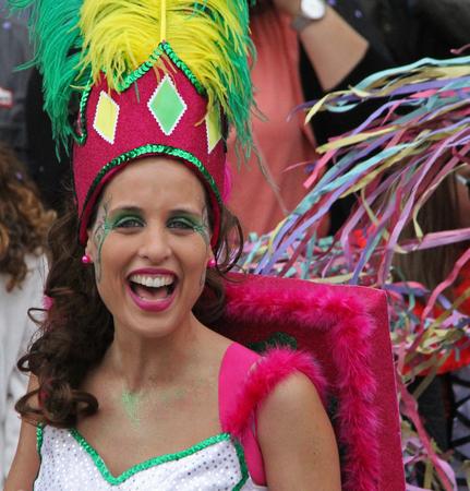 芸能人、カーニバルでパレード ポルトガル、Loule の 2017 年 2 月 28 日ないモデル リリース エディトリアル使用のみ 報道画像