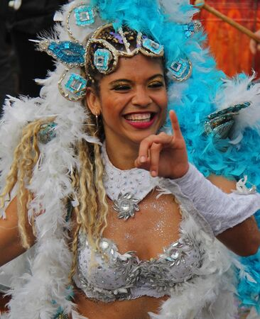A dancer performing at a parade during a carnaval in Loule, Portugal 28 Feb 2017 No model release Editorial use only Editorial