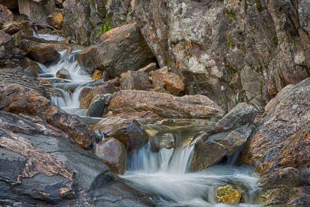 stream: Flowing mountain stream