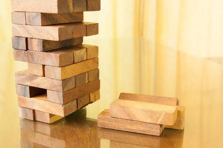 wood block: Wood block tower game children Stock Photo