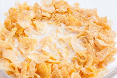 cornflakes: Cornflakes in bowl