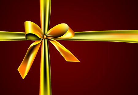 gift with golden ribbon photo