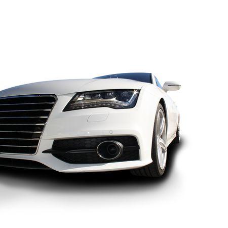 presti: Biały samochód sportowy wydany Publikacyjne