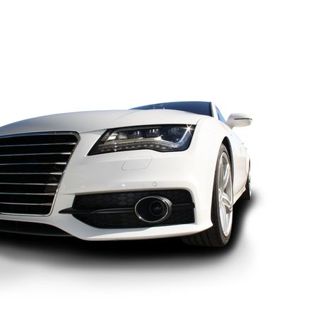 White Sports Car released Stock Photo - 8100799