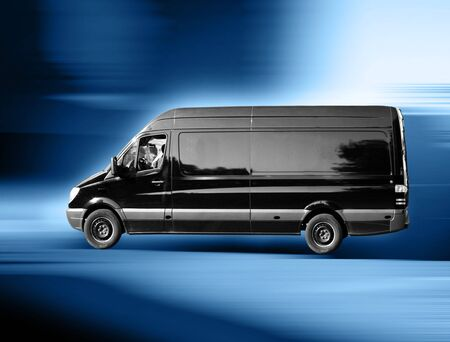 A black van on the way to the customer photo