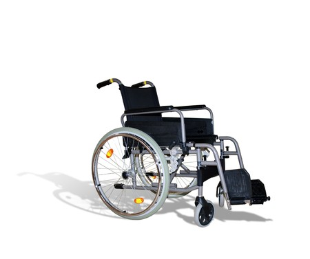wheelchair for invalids on white Stock Photo