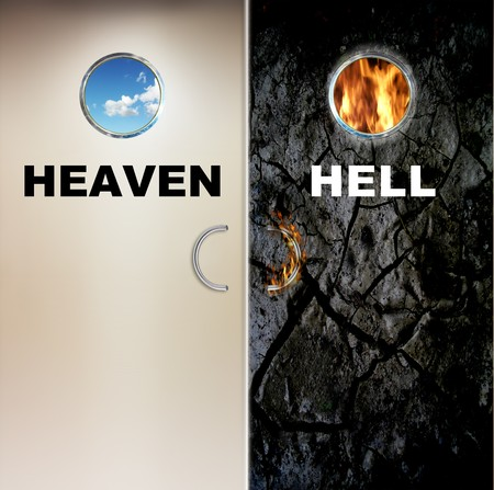 two doors to heaven and hell Stock Photo - 8166715