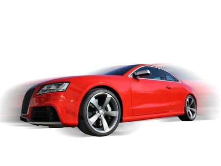 presti: czerwony samochód sportowy na białym tle Publikacyjne