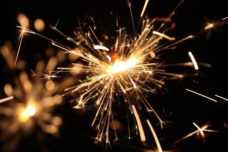 burning sparkler on New Year´s Eve photo