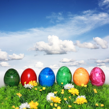 eggs easter: Decoraci�n agradable para tiempo de Pascua
