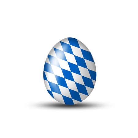 egg with a bavarian flag on a white background photo