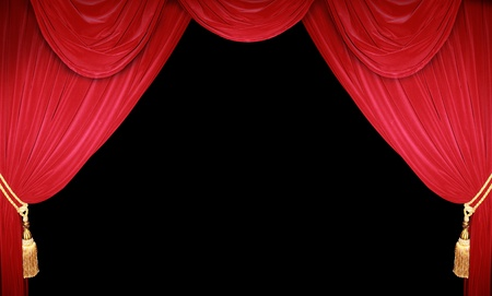comedy show: Red curtain of a classical theater