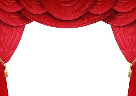 comedic: Red curtain of a classical theater