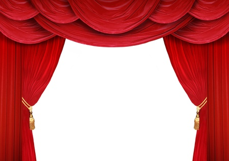 curtain: Red curtain of a classical theater